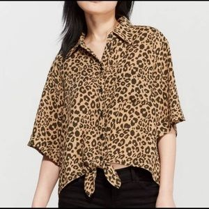 SANCTUARY✨NWOT Drop Shoulder Animal Shirt L